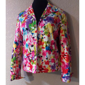 Like New Floral watercolor Josephine blazer 10